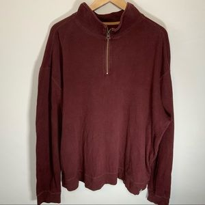 Carhartt 1/4 Zip Pullover Sweater USED Burgundy